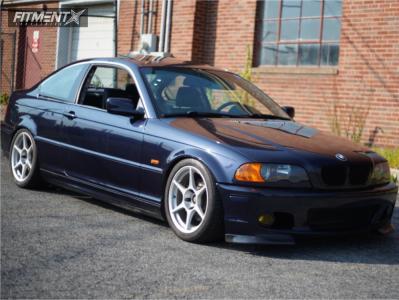 2001 BMW 325Ci - 17x8.5 38mm - Kosei K1 Racing - Coilovers - 245/40R17