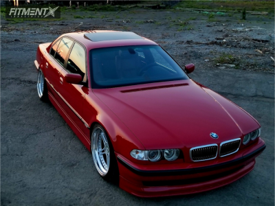 2001 Bmw 740i With 19x10 Racing Dynamics Rs2 And Hankook 255x35 On Coilovers 449742 Fitment Industries