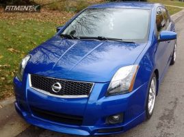 2012 Nissan Sentra - 18x7.5 40mm - 2crave N24 - Lowered on Springs - 225/40R18