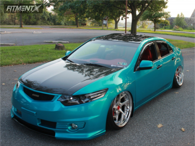 2013 Acura TSX - 20x10 25mm - Rsv Forged Rss-14 S2 Profile - Air Suspension - 245/35R20