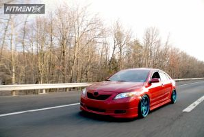 2007 Toyota Camry - 19x9.5 22mm - Varrstoen Es222 - Lowered Adj Coil Overs - 215/35R19