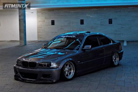 2001 BMW 325Ci - 17x8 20mm - BBS RT107 - Air Suspension - 205/40R17