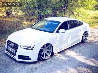 2016 Audi A5 - 20x10.5 28mm - Ferrada Fr1 - Air Suspension - 245/30R20