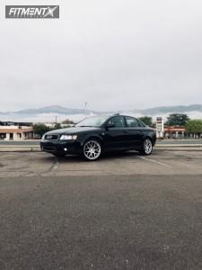 2004 Audi A4 Quattro - 18x8 35mm - Aodhan Ls002 - Stock Suspension - 235/40R18