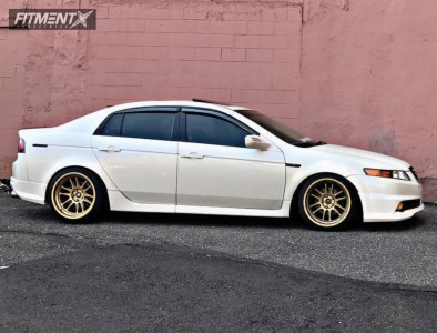 2006 Acura TL - 18x9.5 10mm - Cosmis Racing XT-206R - Coilovers - 225/40R18
