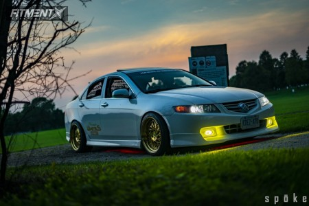 2004 Acura TSX - 18x9.5 15mm - Aodhan Ds03 - Coilovers - 245/35R18
