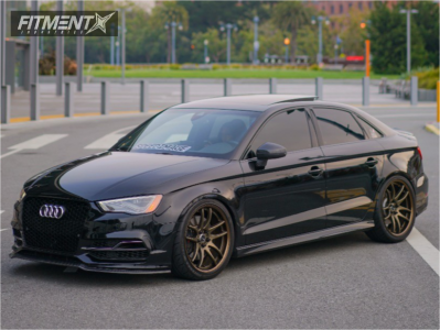2015 Audi S3 - 19x8.5 32mm - Work Emotion Cr 2p - Coilovers - 245/35R19