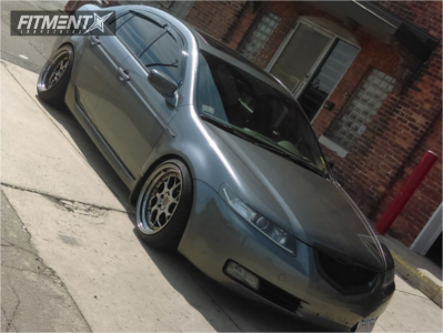 2005 Acura TL - 18x9.5 15mm - Aodhan Ds01 - Coilovers - 225/40R18
