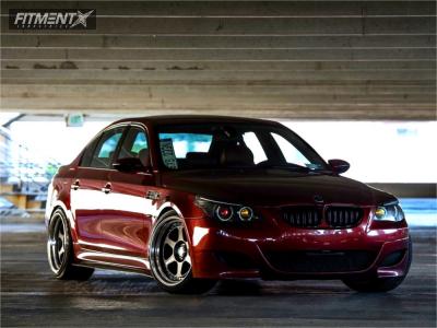 2007 BMW M5 - 19x10.5 0mm - Work Meister L13p - Lowering Springs - 245/40R19