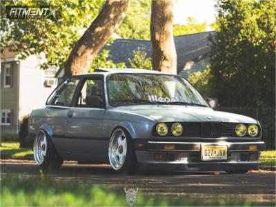 1988 BMW 325e - 17x9 38mm - BBS RF - Coilovers - 205/40R17