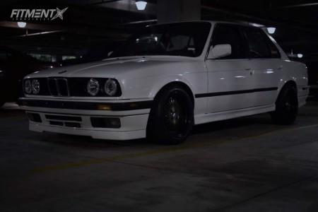 1991 BMW 318i - 15x8 25mm - AVID1 AV18 - Coilovers - 195/45R15