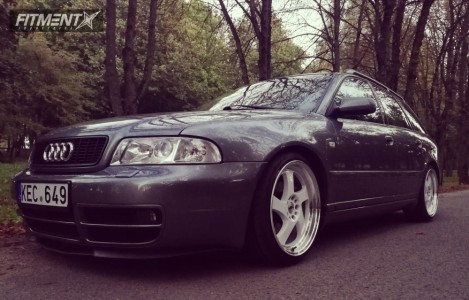 2001 Audi A4 - 18x8.5 40mm - Japan Racing Jr15 - Coilovers - 205/40R18
