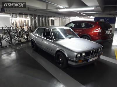 1987 BMW 318i - 16x8 15mm - Klutch Sl1 - Lowering Springs - 205/45R16