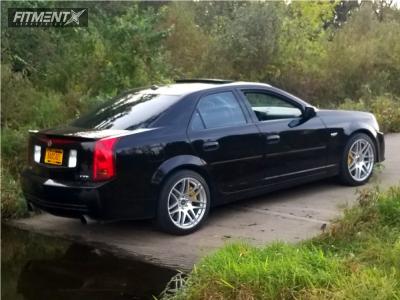 2004 Cadillac CTS-V - 19x9 40mm - Forgestar F14 - Stock Suspension - 255/40R19