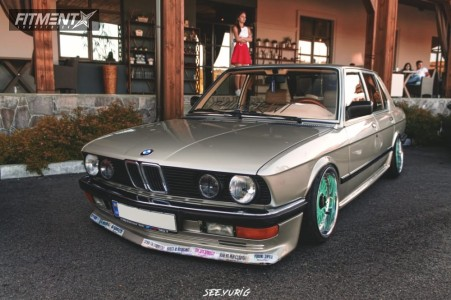 1986 BMW 5 Series - 17x10 -1mm - BBS Rc090 - Coilovers - 205/40R17