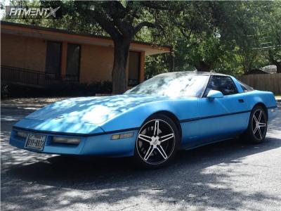 1990 Chevrolet Corvette - 18x9 50mm - Cray Brickyard - Lowering Springs - 275/35R18