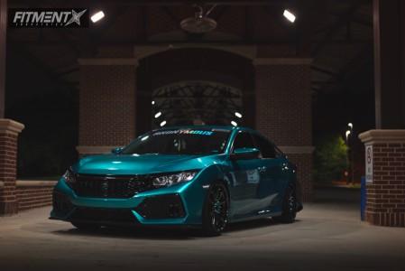 2016 Honda Civic - 19x9.75 38mm - XXR 527 - Coilovers - 235/35R19