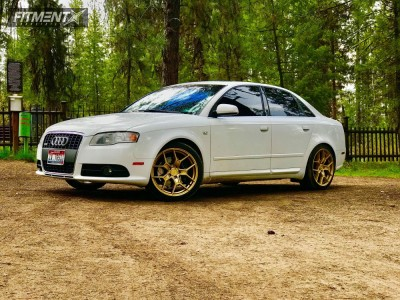 2008 Audi A4 - 18x8.5 45mm - Motegi Mr133 - Lowering Springs - 235/40R18