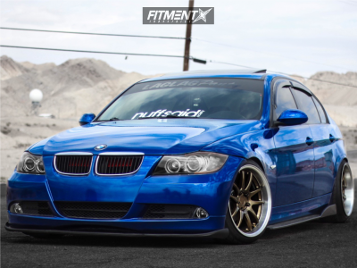 2007 BMW 323i - 18x9.5 22mm - Aodhan DS02 - Coilovers - 205/40R18