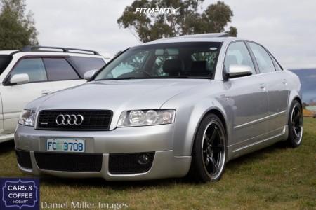 2004 Audi A4 Quattro - 18x8.5 40mm - Hussla GT - Stock Suspension - 225/35R18