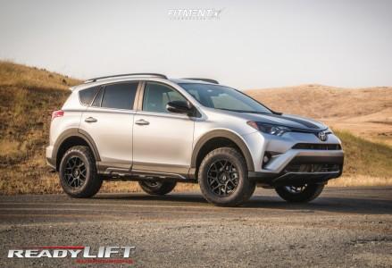 2018 Toyota RAV4 - 17x8 38mm - KMC Km708 - Lifted - 245/65R17