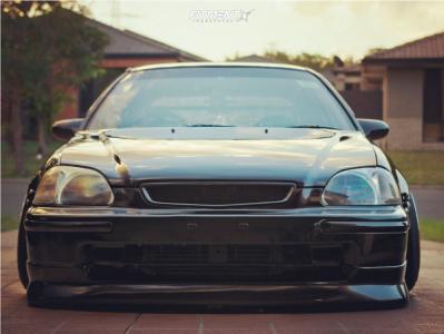 2000 Honda Civic - 15x9 5mm - Work Meister S1r - Air Suspension - 175/55R15