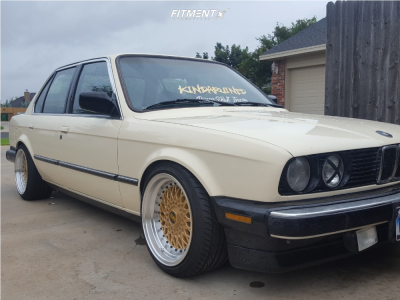 1987 BMW 325e - 16x9 15mm - ESM 002r - Coilovers - 215/40R16