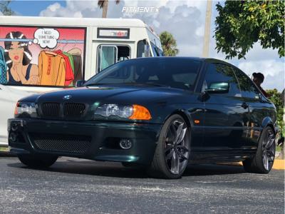 2003 BMW 325Ci - 19x8.5 35mm - Niche Vosso - Stock Suspension - 225/35R19