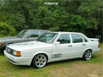1985 Audi 4000 Quattro - 16x8.5 15mm - Borbet Type C - Lowering Springs - 255/50R16