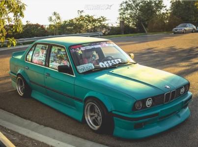 1991 BMW 318i - 15x10 0mm - Weds Kranze Cerberus - Coilovers - 205/45R15