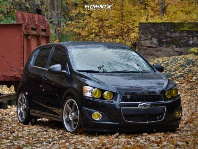 2015 Chevrolet Sonic - 18x7.5 38mm - Enkei Ev5 - Coilovers - 225/40R18
