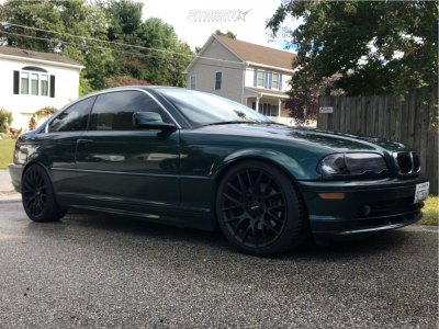 2001 BMW 325Ci - 18x8 35mm - Alzor 030 - Coilovers - 225/35R18