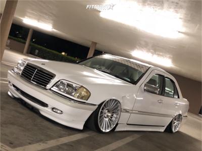 1998 Mercedes-Benz C230 - 18x9.5 35mm - Rotiform Ind-t - Air Suspension - 215/35R18