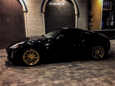 2015 Nissan 370Z - 19x9.5 15mm - Aodhan DS02 - Stock Suspension - 245/30R19