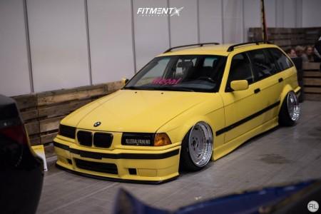 1998 BMW 328i - 17x9 13mm - OZ Racing Breyton - Air Suspension - 185/30R17
