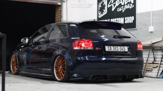 2007 Audi S3 - 18x7.5 32mm - BBS Calitos - Air Suspension - 195/35R18