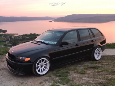 2002 BMW 320i - 18x10.5 22mm - Japan Racing Jr11 - Coilovers - 215/35R18