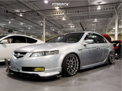 2005 Acura TL - 18x9.5 22mm - Aodhan DS02 - Coilovers - 215/35R18