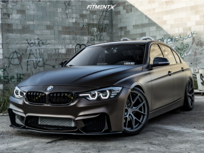 2013 BMW 328i xDrive - 19x9.5 35mm - MV Forged SV1 - Coilovers - 245/35R19