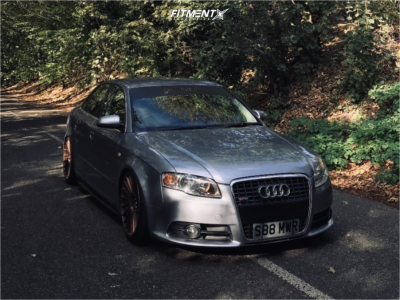 2006 Audi A4 - 19x8.5 45mm - Rotiform Ind-t - Coilovers - 215/35R19