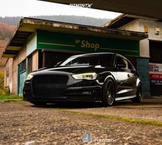 2013 Audi A3 - 18x8.5 45mm - Stuttgart ST2 - Coilovers - 225/35R18