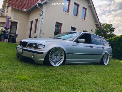 2002 BMW 320i - 19x10 35mm - Ronal  - Coilovers - 215/35R19