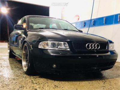 2000 Audi A4 Quattro - 17x9.5 22mm - STR 505 - Coilovers - 275/40R17