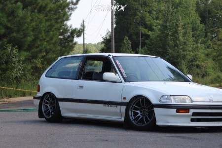 1989 Honda Civic - 16x8.25 25mm - JNC Jnc030 - Coilovers - 195/45R16