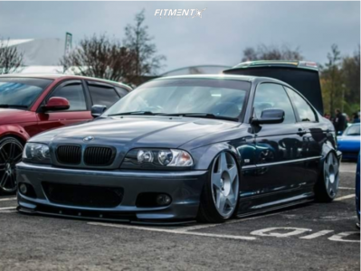 2003 BMW 330Ci - 19x9 22mm - Fifteen52 Tarmac - Air Suspension - 205/45R19