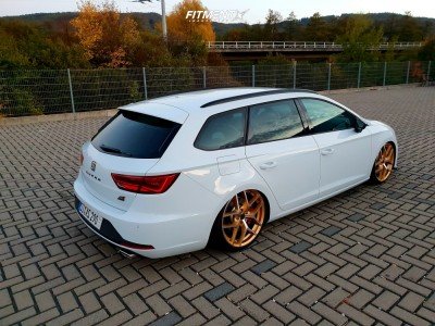 2016 Seat Leon - 19x8 50mm - Borbet Typ Y - Coilovers - 225/35R19