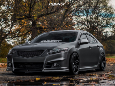 2010 Acura TSX - 18x9 35mm - Cosmis Racing S5r - Coilovers - 285/35R18