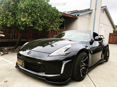 2017 Nissan 370Z - 18x10.5 5mm - Cosmis Racing S1 - Coilovers - 245/45R18
