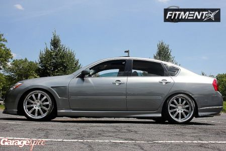 2006 Infiniti M45 - 20x8.5 30mm - Concept One RS-10 - Lowered Adj Coil Overs - 245/35R20
