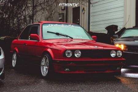 1989 BMW 325is - 16x9 15mm - JNC Jnc010 - Lowering Springs - 195/40R16